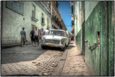 Side street in Old Havana, Cuba - HDR.