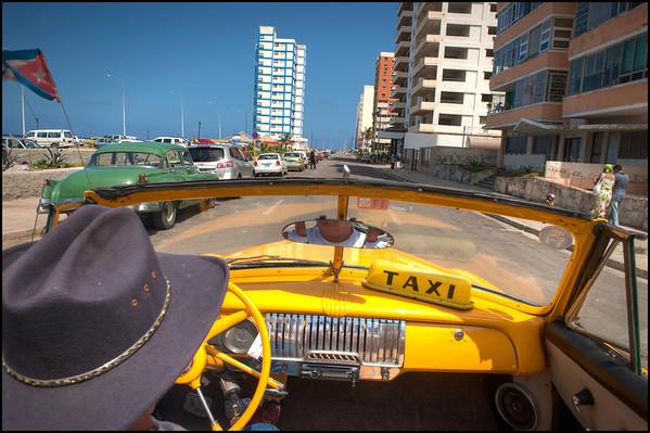 Taxi Ride through Havana, Cuba.