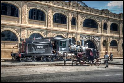 Antique Train #3, Havana, Cuba - HDR.