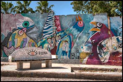 A community beautification project outside Havana, Cuba.