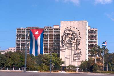 Che Guevara and the Interior Ministry Building, Plaza de la Revolución, Havana, Cuba.