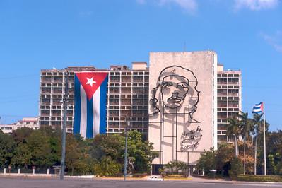 Che Guevara and the Interior Ministry Building, Plaza de la Revolución, Havana, Cuba.
