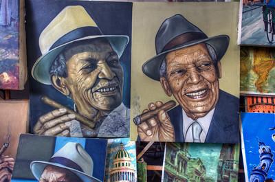 Paintings for sale, Havana, Cuba.