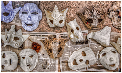 Masks, Havana, Cuba.