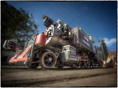 Antique train #1, Havana, Cuba.