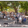 Booksellers in the Plaza de Armas, Havana, Cuba.