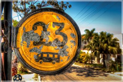 Bus Stop 23 Near Havana, Cuba.