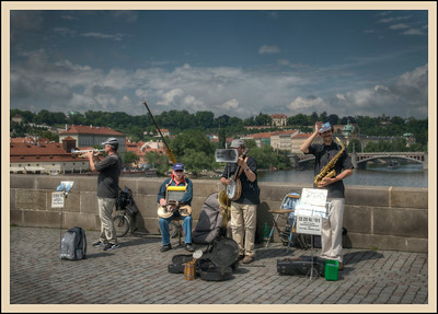 The Bridge Band, Prague, Czech Republic.
