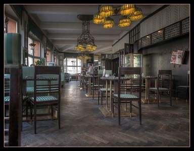 Cafe, Prague, Czech Republic.