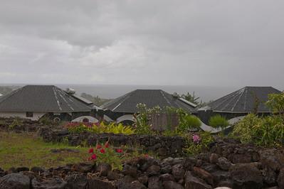 Rain at Easter Island (Rapa Nui).