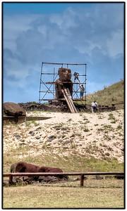 Ahu Restoration, Anakena Beach, Easter Island (Rapa Nui).