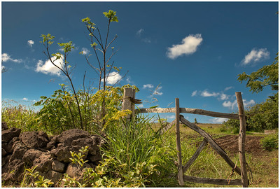 Landscape along the road to the sea, Easter Island (Rapa Nui) - HDR.