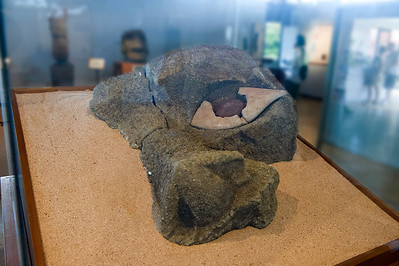 Only Known Authentic Moai Eye, in the Father Sebastian Englert Anthropological Museum near Hanga Roa, Easter Island (Rapa Nui).