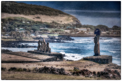 Outside Hanga Roa, Easter Island (Rapa Nui).