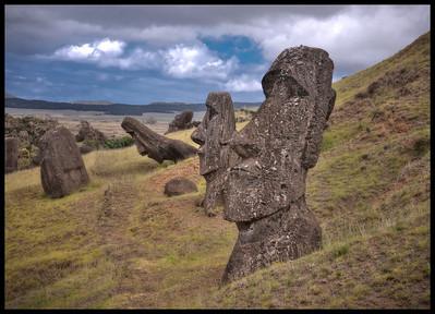 Rano Raraku Quarry, Easter Island (Rapa Nui).
