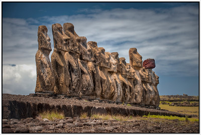The Moai at Tongariki, Easter Island (Rapa Nui) - HDR.