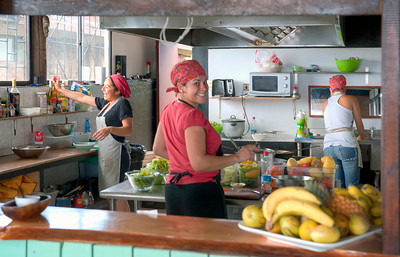 The Kitchen at Haka Honu Restaurant, Easter Island (Rapa Nui).