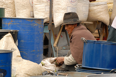 Vendor, Weekly Market, Ecuador