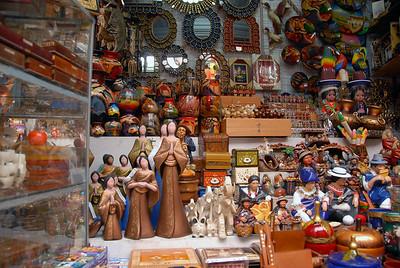Tourist trinkets, Ecuador.
