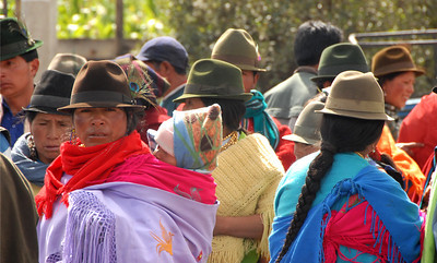 Local Crowd, Rural Ecuador