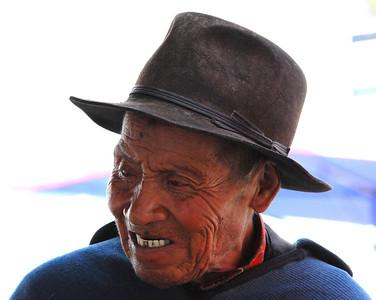 Man in Otavalo, Ecuador