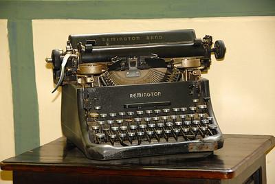 Typewriter at a hacienda, Ecuador