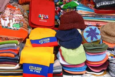 At the market, Ecuador.