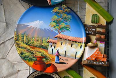 Tourist things for sale, Quito, Ecuador.