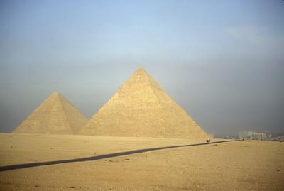 The Pyramids at Giza, Egypt.