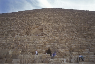 Closeup of Pyramid, Giza, Egypt.