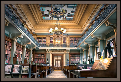 The National Art Library at the Victoria and Albert Museum, London, England.