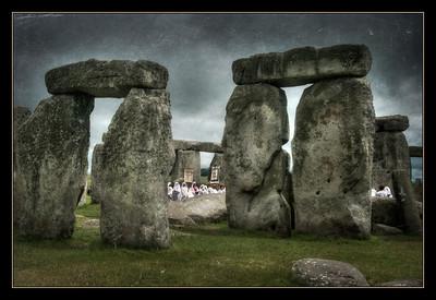 Midsummer ceremony at Stonehenge.