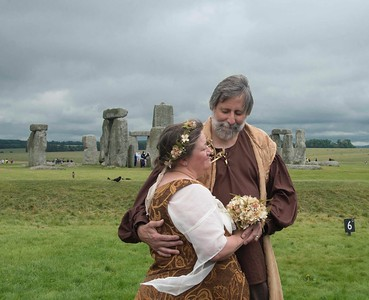 Wedding at Stonehenge, Wiltshire, England.
