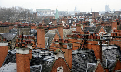 Rooftops, Mayfair, London, England.