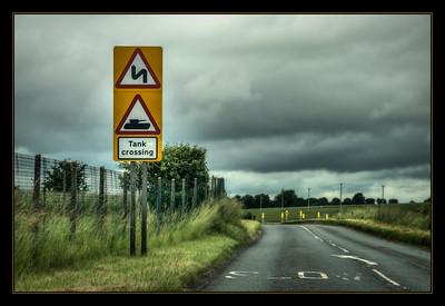 On the Army Training Estate, Salisbury Plain, England.