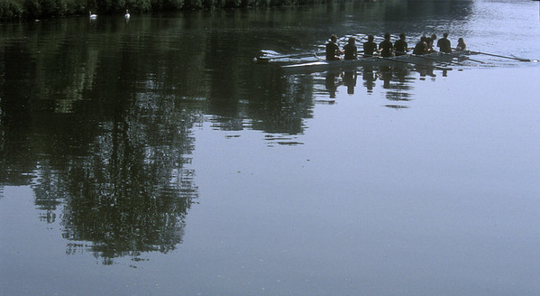 Sculling, Oxford, England.