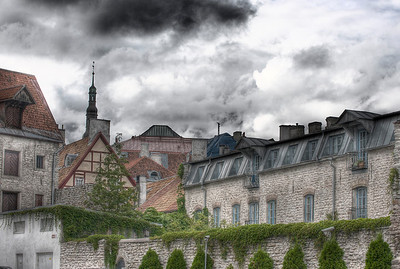 HDR: The rooftops of Old Town, Tallinn, Estonia.