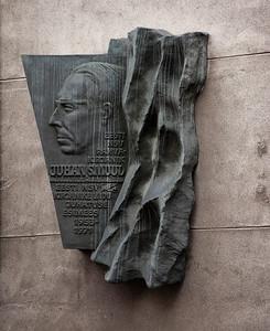 Monument to Estonian writer Juhan Smuul, Tallinn, Estonia.