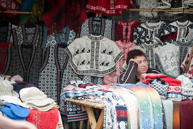 Flea market, Tallinn, Estonia.