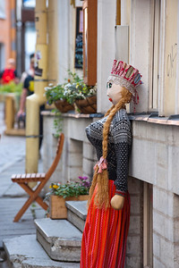 Doll outside a shop in Tallinn, Estonia.