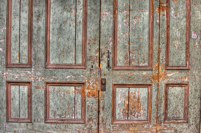 HDR: Door in Old Town Tallinn, Estonia.