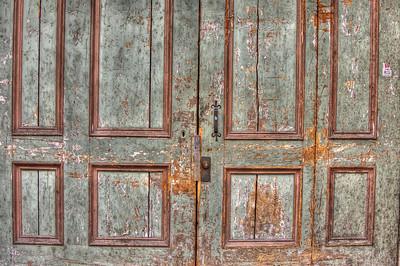 HDR: Door in Old Town Tallinn, Estonia.