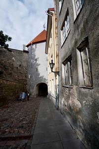 The old city walls, Tallinn, Estonia.