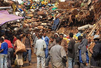 Recycling section of the Merkado, Africa's largest market, Addis Ababa, Ethiopia.