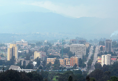 Downtown Addis Ababa, Ethiopia.