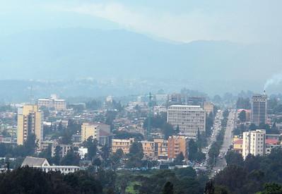 Downtown Addis Ababa, Ethiopia.