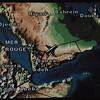 Ethiopian Airlines map, flight between Addis Ababa, Ethiopia and Dubai, U.A.E.