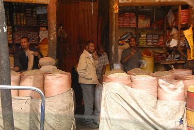 Food merchants, Addis Ababa, Ethiopia.