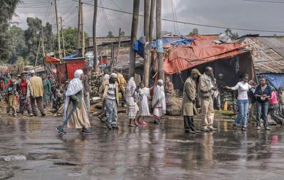 Street scene, Addis Ababa, Ethiopia - HDR.