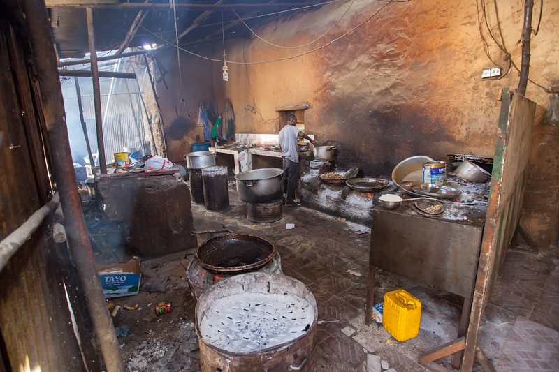 Kitchen with local food